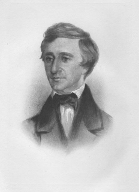 crayon portrait of Henry David Thoreau as a young man