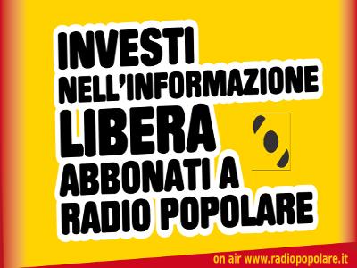 Abbonamento a Radio Popolare