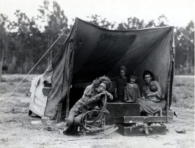 Famiglia di braccianti, Usa, 1936