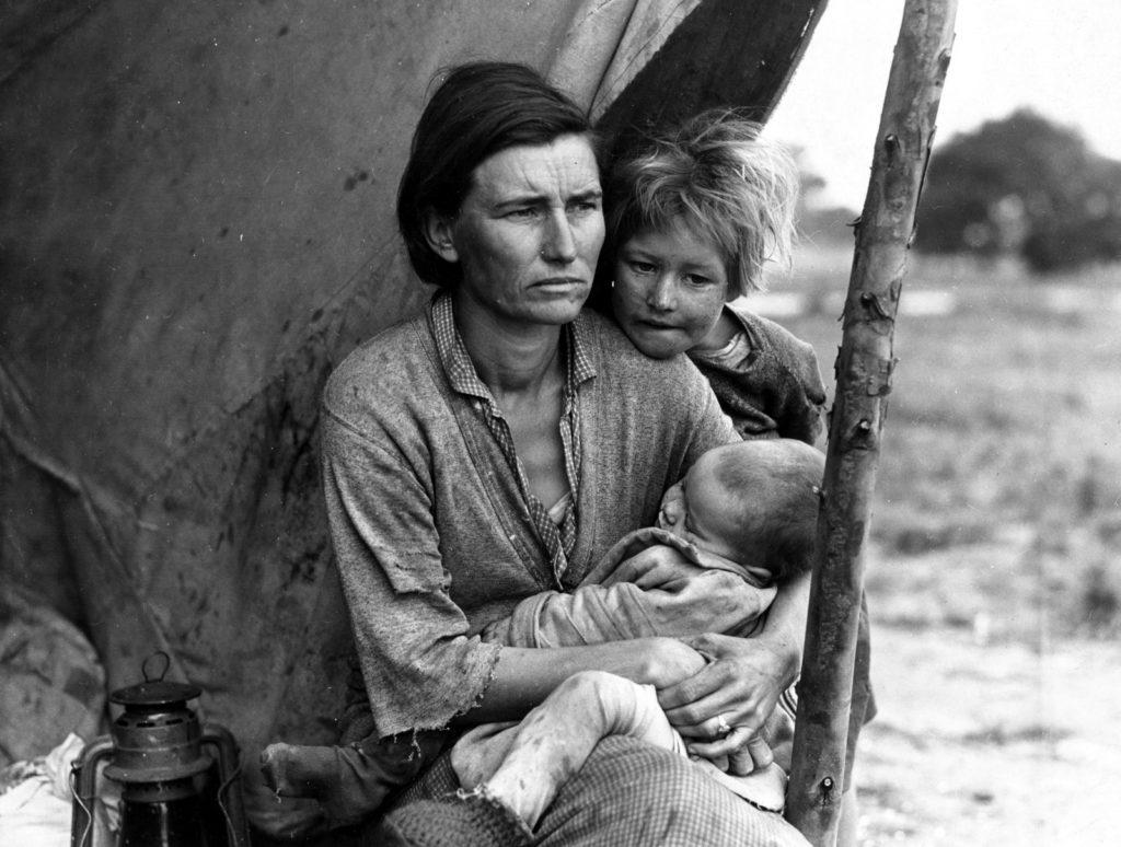 Famiglia di braccianti, California, 1936